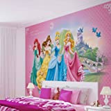 Disney Princesses Cinderella Belle - Photo Wallpaper - Wall Mural - EasyInstall Paper - Giant Wall Poster - XL - 208cm x 146cm - EasyInstall Paper - 2 Pieces