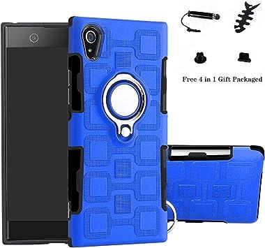 LFDZ Sony Xperia XA1 Anillo Soporte Funda 360 Grados Giratorio Ring Grip con Gel TPU Case Carcasa Fundas para Sony Xperia XA1 Smartphone(Not fit XA1 Ultra),Azul: Amazon.es: Electrónica