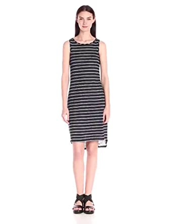 37c793422c Amazon.com  Vince Women s Striped Linen Jersey Tank Dress