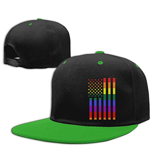 c336514dad6 Amazon.com  Funny Rainbow American Flag Gay Pride Hip Hop Baseball ...