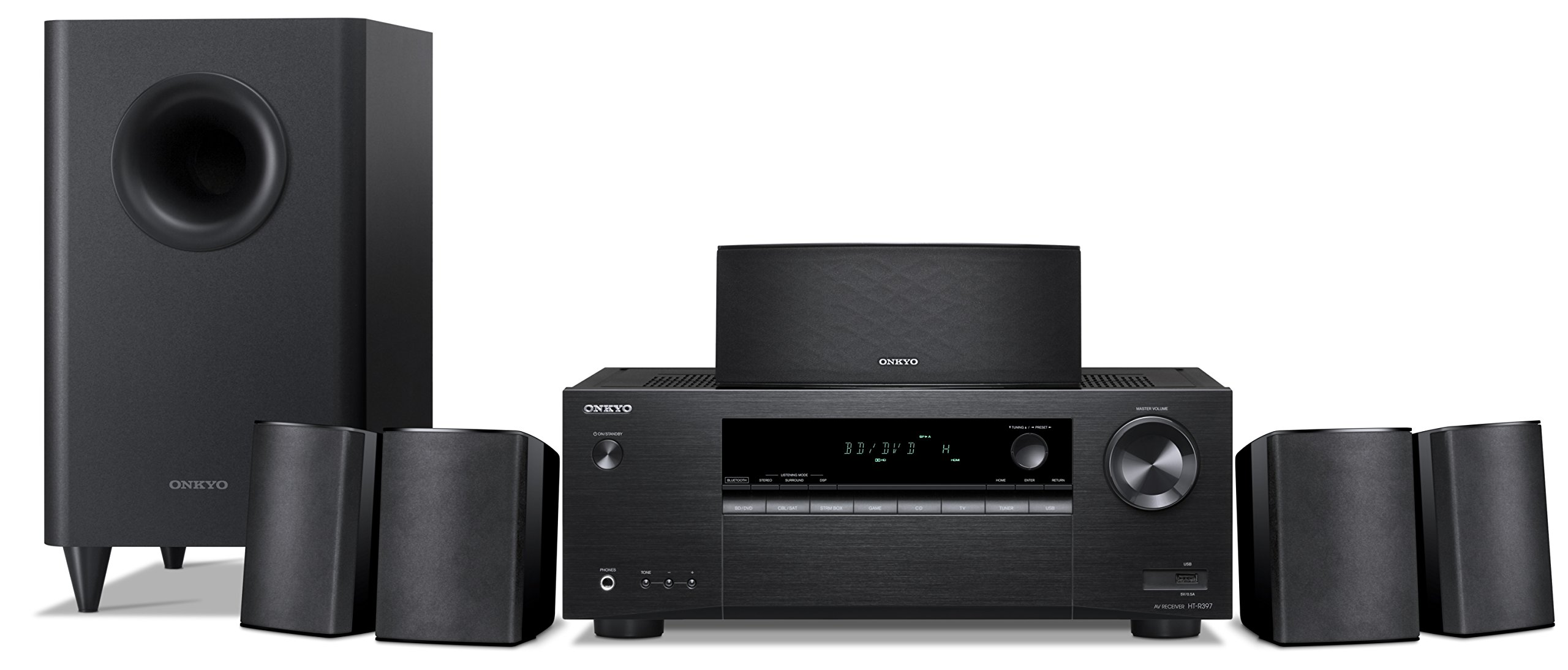 Onkyo 5.1 6-Channel Surround Sound Speaker System, black (HT-S3900)