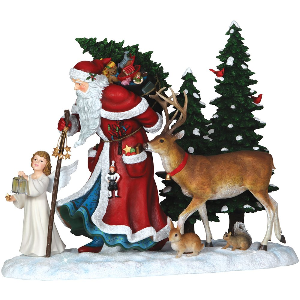 """Pipka, Christmas Gifts, """"Guiding Light Santa"""", Limited Edition Resin Sculpture, #7131206"""