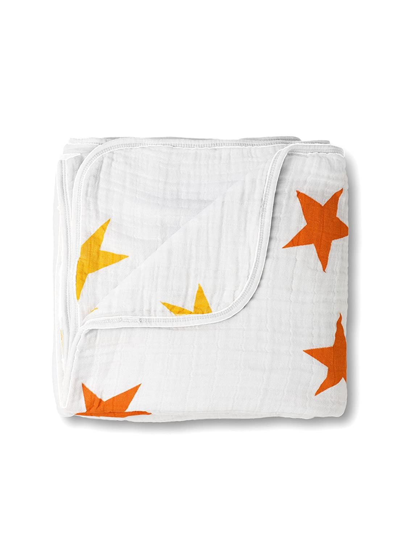 SwaddleDesigns Musselin Einschlagdecken//Premium Baumwollflanell Sea Crystal Little Fox 2er Set