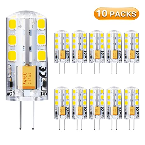 Bombilla LED G4,Elfeland 10x Bombilla Bajo Consumo 2W Equivalente de 20W Lámpara Halógena 24LED