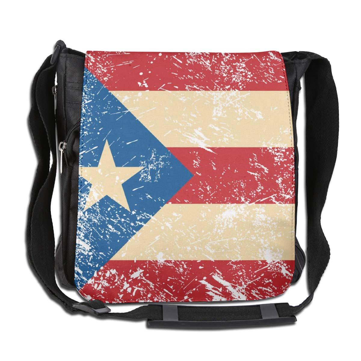 Puerto Rico Retro Flag Men Women Inspirational Satchel Messenger Bags Crossbody Sling Working Bag Travel Shoulder Bags Office//School