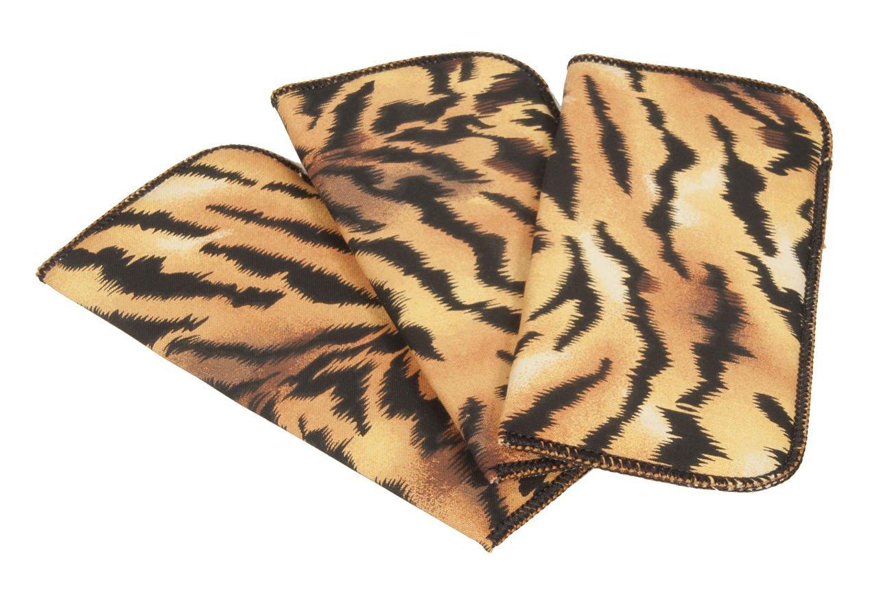 3 Pack Tiger Print Fabric Soft Eyeglass Cases for Women, Fits Medium Frames