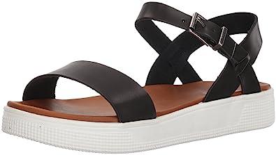 6c870136015 MIA Women s Abby Flat Sandal Black 10 ...
