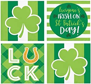 St. Patricks Day Cocktail Napkins Funny Assorted Variety Pack Beverage Paper Napkins 48 Napkins Cocktail Party Supplies