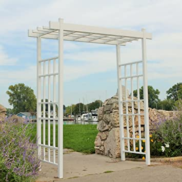 Dura Trel Bakersfield Arbor, White, 85u0026quot;H
