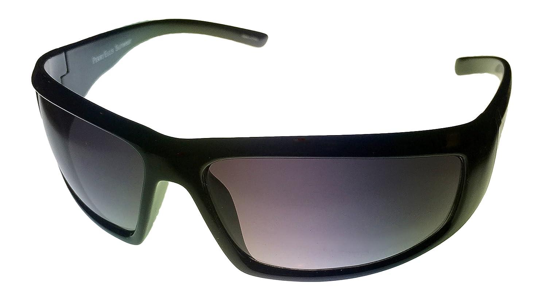78b180ba016 Amazon.com  Perry Ellis Sunglasses Mens Black Plastic Wrap