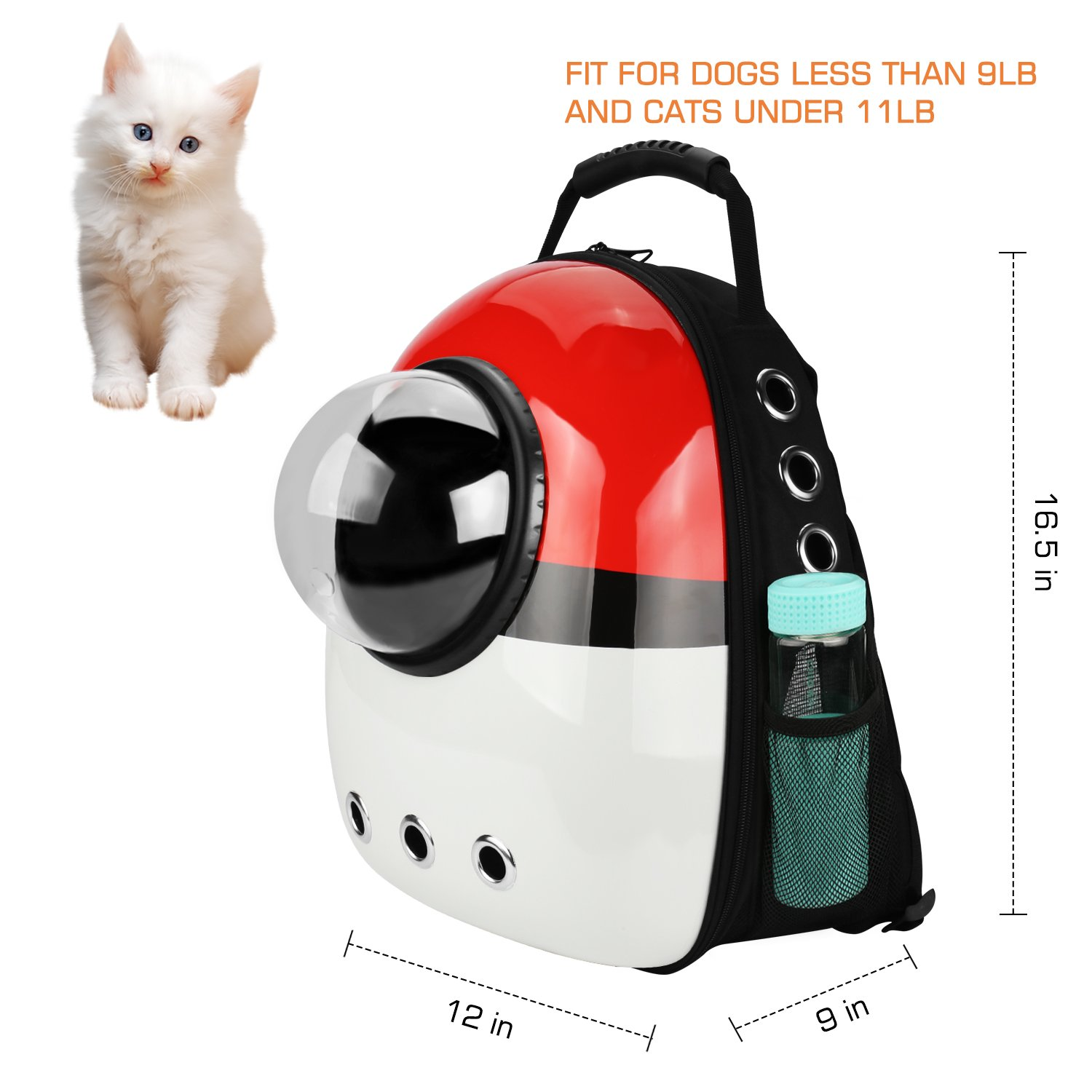 AntTech Breathable Pet Travel Backpack Space Capsule Carrier Bag Hiking Bubble Backpack Cat Dog Puppy
