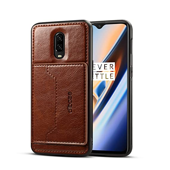separation shoes 587cd 71aa0 Amazon.com: OnePlus 6T Case, Slim Fit Magnetic Back Flip Stand Card ...