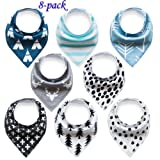 Amazon Price History for:Baby Bandana Drool Bibs Organic 8 Pack for Boys and Girls 100% Absorbent Soft Cotton Bandana Baby Bibs for Teething Feeding Baby Shower Gift (BC073)