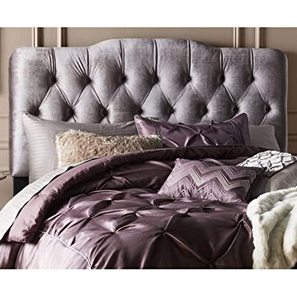 Amazon Com Upholstered Panel Headboard Button Tufted Velvet