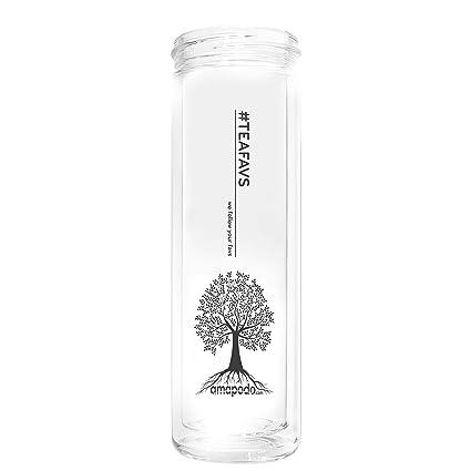 amapodo Cristal de Repuesto 400ml Transparente para Tetera, biberón, Botella de Vidrio, Vaso