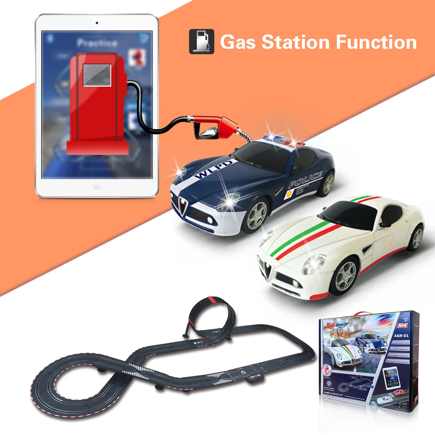 AGM slot car set with racing assistant APP No.ASR-01 1:43 scale by AGM (Image #2)