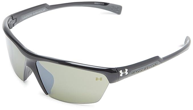 bfde33e33e21 Under Armour Velocity Multiflection Sport Sunglasses, Shiny Black  Frame/Green Lens, one size: Amazon.co.uk: Clothing