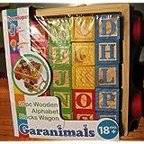 Garanimals 20 PC Wooden Alphabet Blocks Wagon