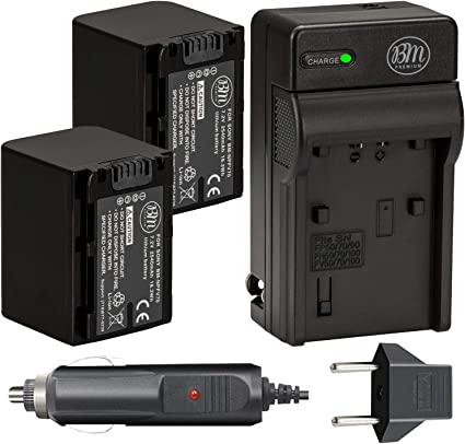 Video LED Light With 2 Battery /& Charger for Sony NEX-VG30H NEX-VG900 HDR-TD20