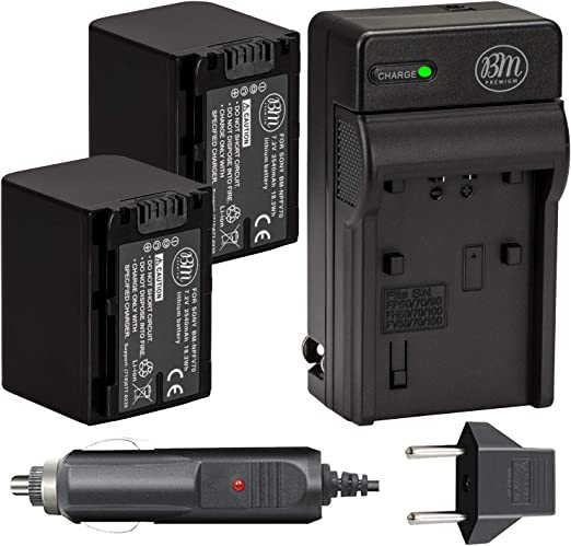 CX300 CX290 Ladegerät NP-FV70 für Sony HDR-CX280 CX305