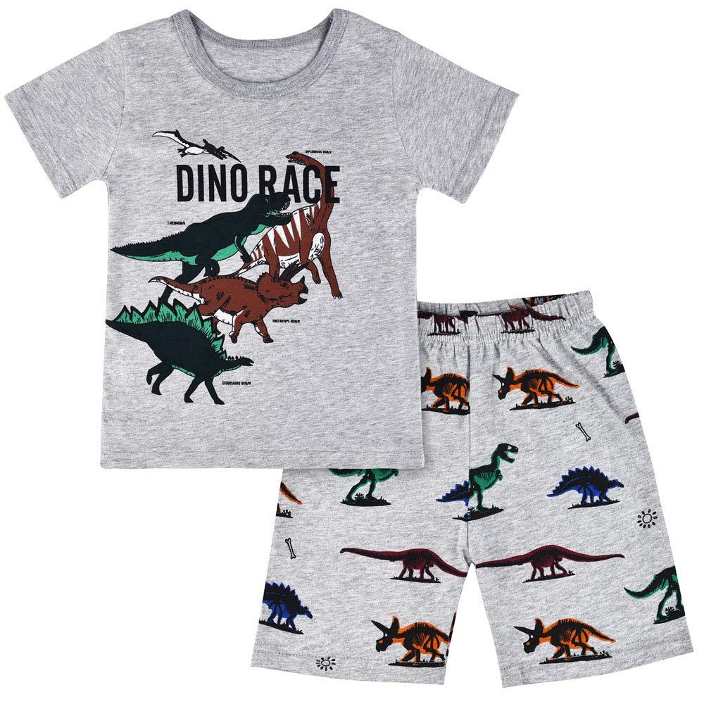 Children Kids Dinosaur Car Boys Pajamas Sets Baby Pjs Sleepwear T Shirt /& Shorts Pants Pyjamas Sets Nightwear Outfit