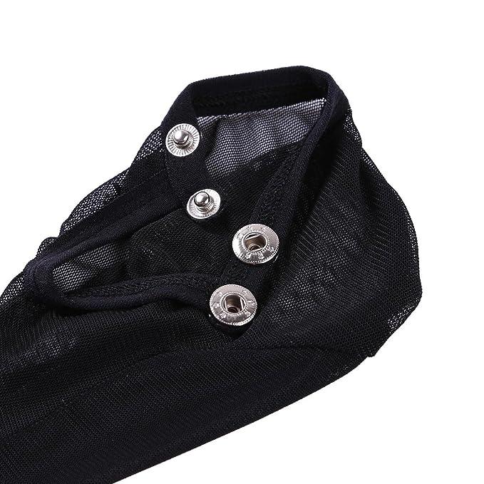 Amazon.com: YiZYiF Mens Mesh Mini Pantyhose Stockings Socks C-String Buckled Sheath Underwear Black One Size: Clothing