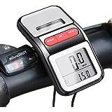 BOMEON Bike Speedometer Multifunction LCD Solar Power Bicycle Pedometer Odometer