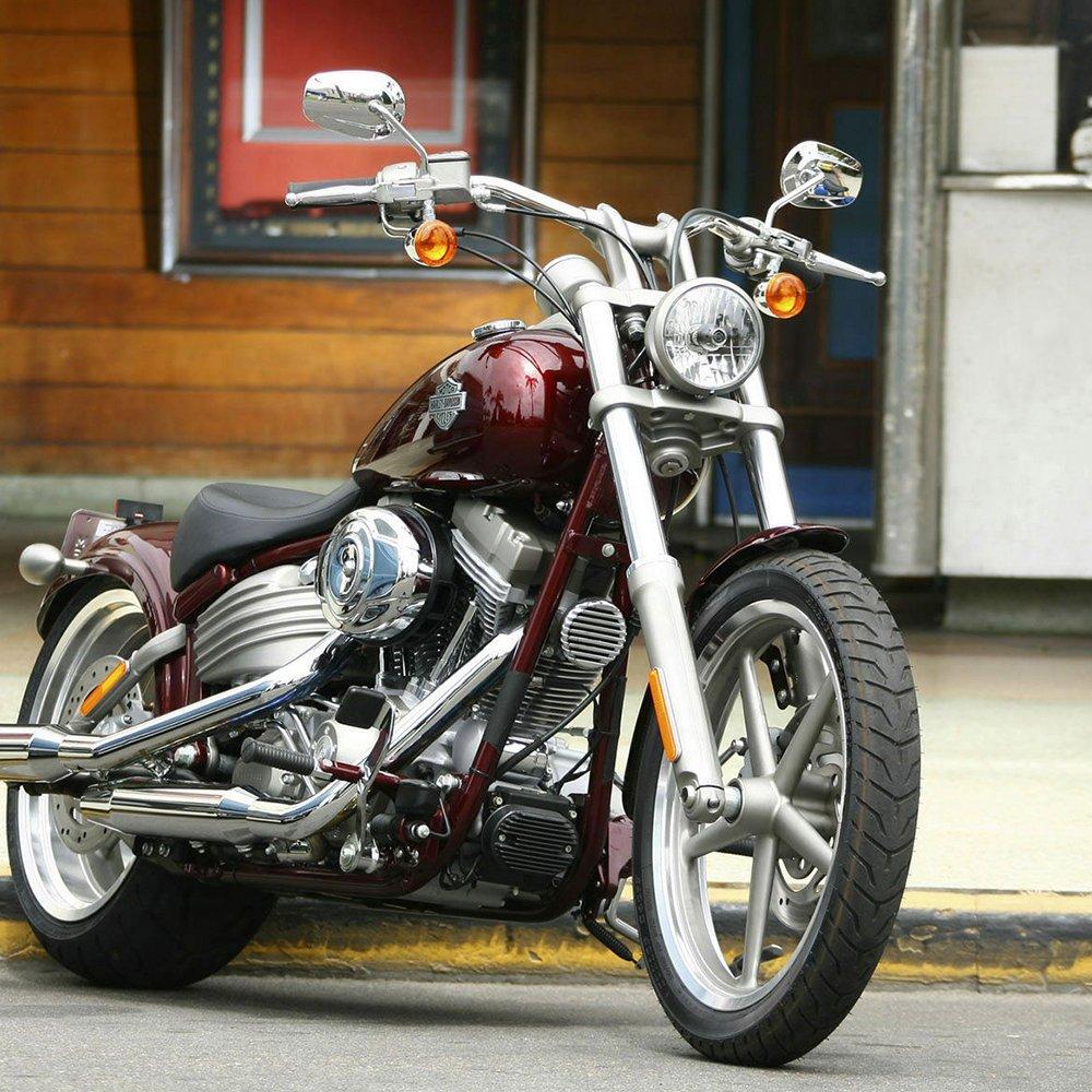 Motocicleta fuera de visión trasera izquierda & derecho vista lateral espejos ajuste para Harley Davidson XL1200L Sportster Xl1200 C plata: Amazon.es: Coche ...