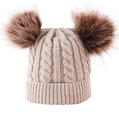 Merrynew Sombrero de pompón de Invierno para bebé recién Nacido ...