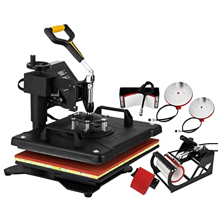 1a335ebf VEVOR Heat Press 5 in 1 Combo Multifunction Sublimation Heat Press Transfer  Machine Desktop Iron Baseball
