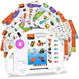 Kids Learning Toys, 60pcs Educational Cards, Preschool Interactive Learning Pads Logical Game Tablet Machine, Gifts for…