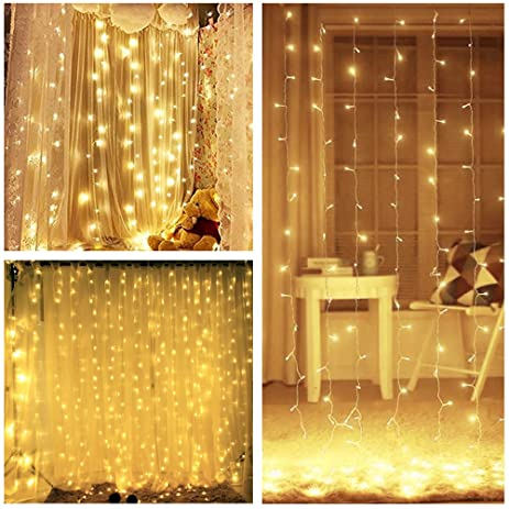 Amazoncom Lightess LED String Fairy Light Curtain Lights - How to use fairy lights in bedroom