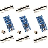 For Arduino Nano V3.0, Elegoo Nano board CH340/ATmega328P without USB cable, compatible with Arduino Nano V3.0 (Nano x 3 without cable)