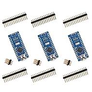 ELEGOO for Arduino Nano V3.0, Nano Board CH340/ATmega328P Without USB Cable, Compatible with Arduino Nano V3.0 (Nano x 3 Without Cable)