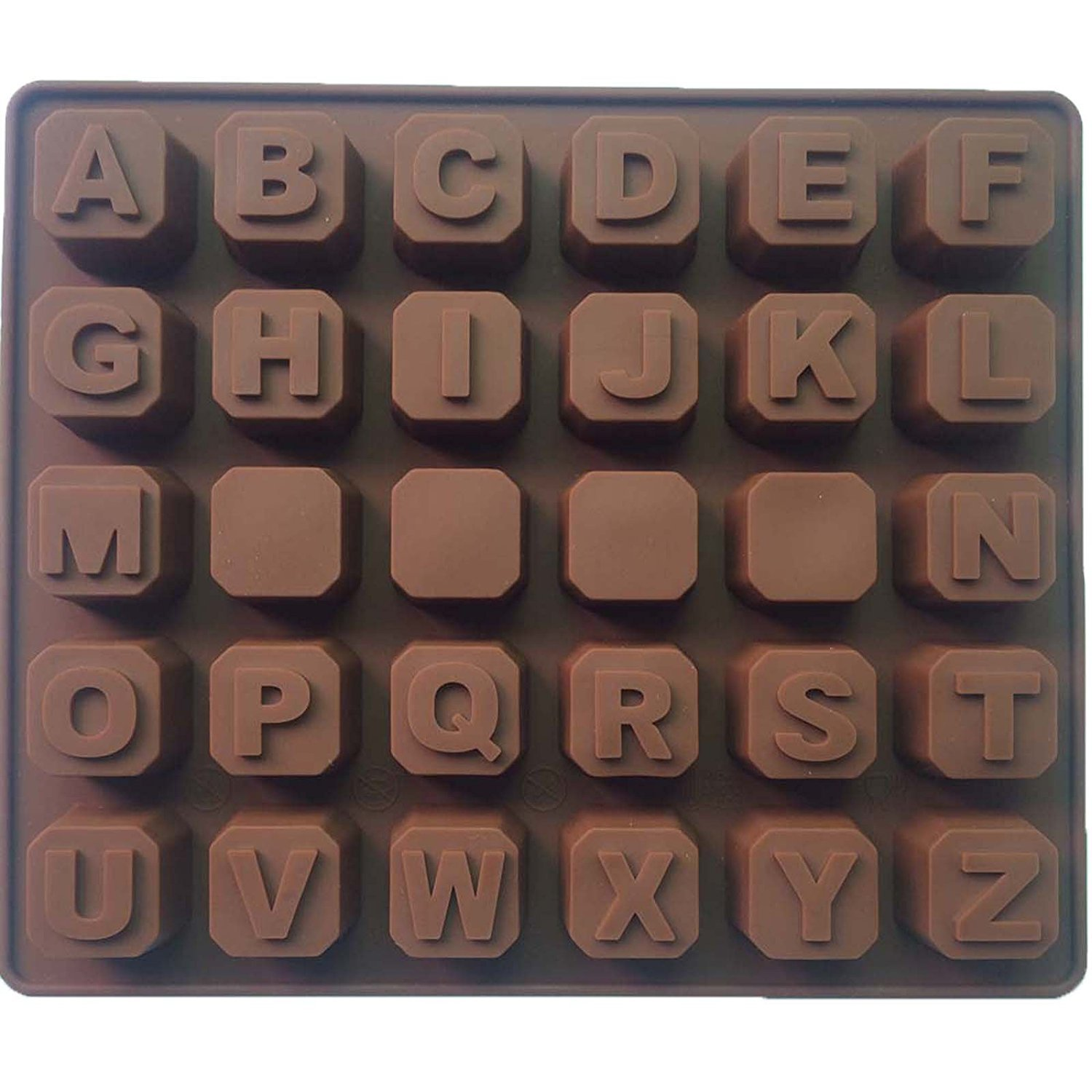 Alphabet Letters A-Z SILICONE cake cookie chocolate soap MOULD ice cube tray LT