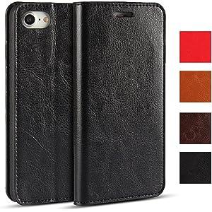 1d98aa33a6 iphone 7 ケース カバー 手帳型 本革 レザースタンド機能 マグネット無し アイフォン7 対応