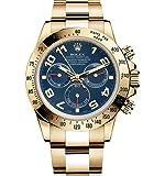 Rolex Daytona Yellow Gold Watch Blue Dial 116528 Unworn 2016