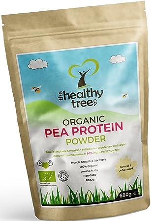 812b8f7b6 TheHealthyTree Company Proteína de Guisante Orgánico en Polvo - Alto  contenido en aminoácidos y BCAA -