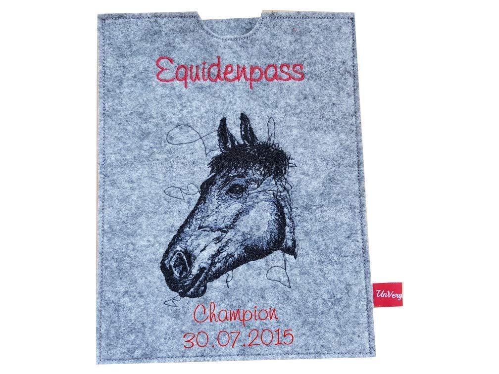 Equidenpasshülle Pferdepasshülle Schutzhülle Pferdepass Equidenpass Wollfilz