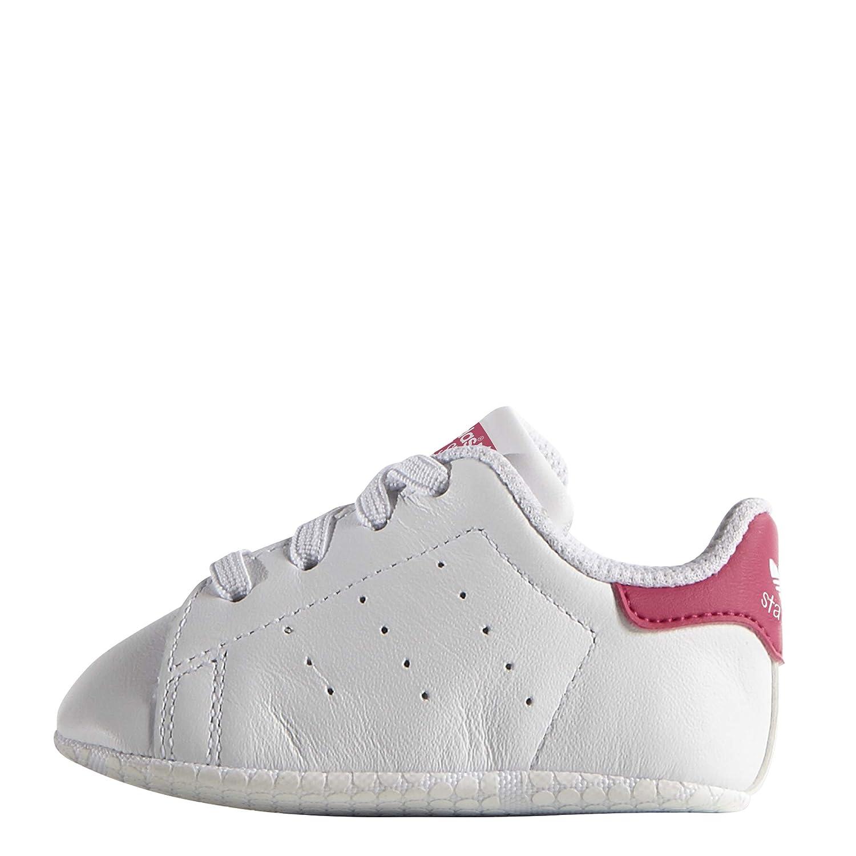 Ftwr White//Ftwr White//Bold Pink 18-24 Mois B/éb/é UK Adidas Stan Smith Crib 21 EU Chaussures B/éb/é marche b/éb/é fille Blanc