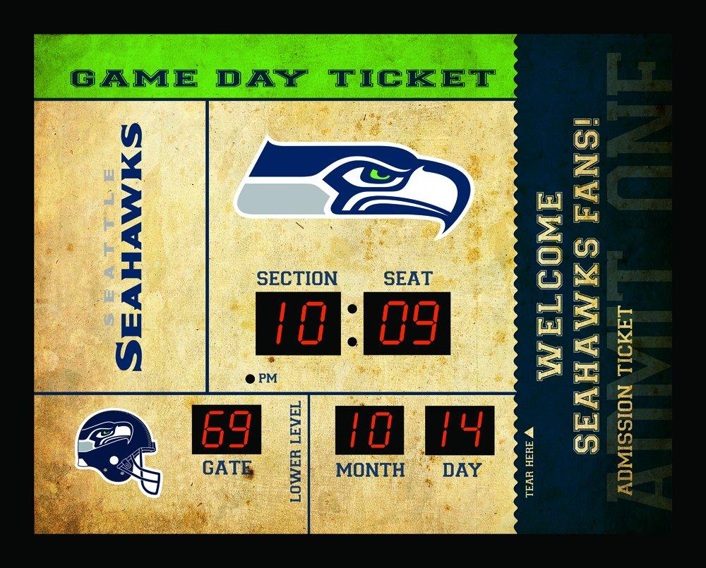 Team Sports America Seattle Seahawks Bluetooth Scoreboard Wall Clock by Team Sports America