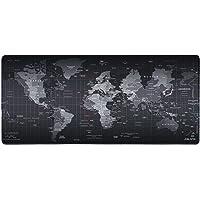 lozafot desk pad non-slip mouse pad, non-slip rubber base pad for PC and laptop (world map)