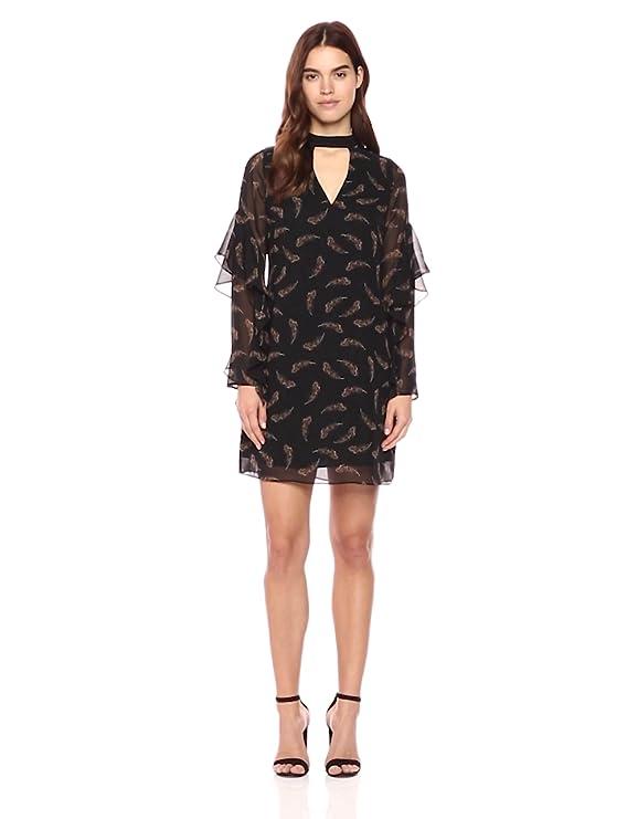 aa126810 Sam Edelman Women's Print Choker Shift Dress at Amazon Women's Clothing  store: