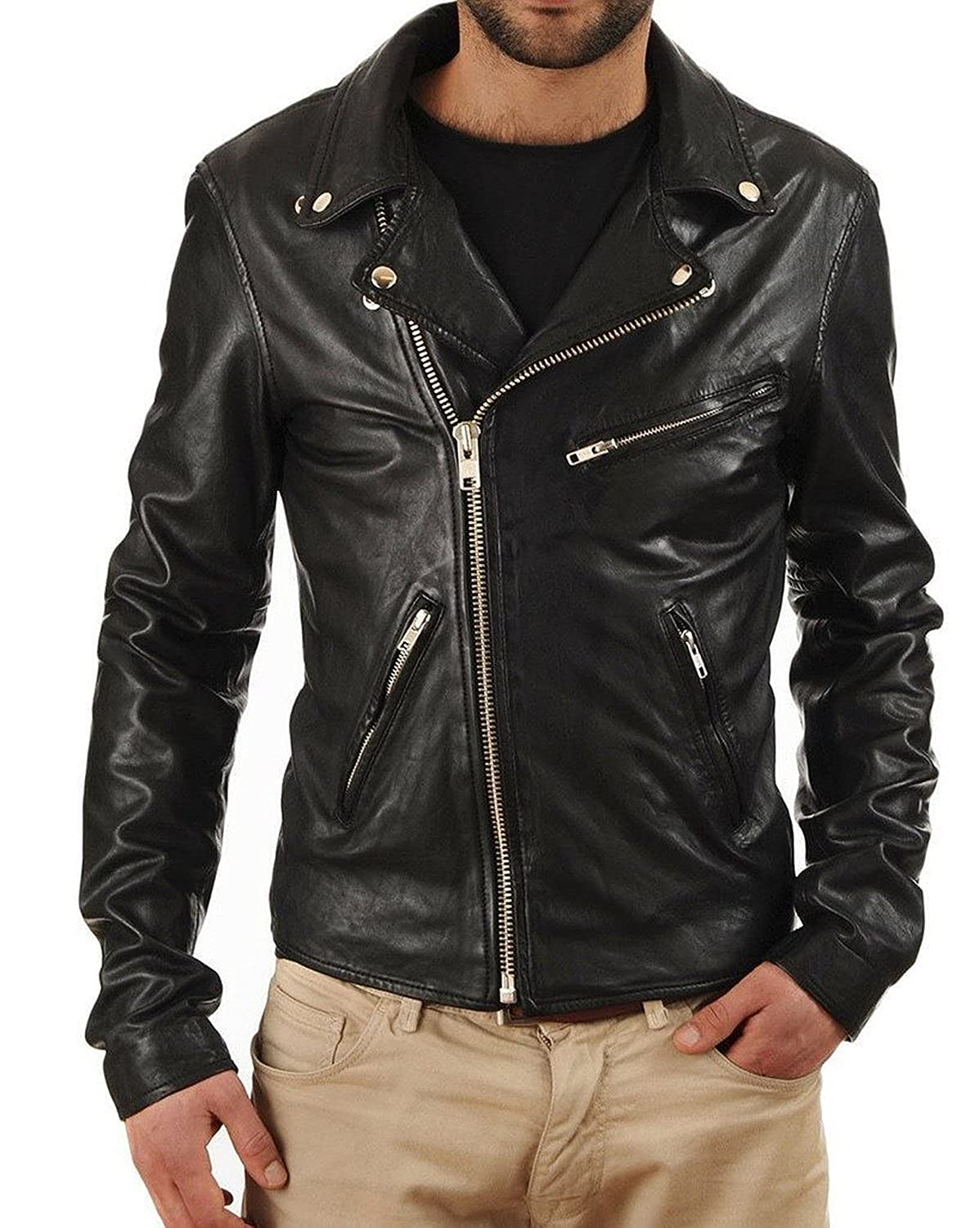 Laverapelle Men's Lambskin Real Leather Jacket Black - 1510325