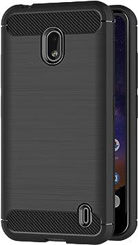 AICEK Funda Compatible Nokia 2.2, Negro Silicona Fundas para ...