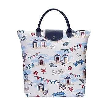 Diseño de caseta de playa plegable bolsa de la compra por Signare | tela de bolsa | 21 x 12 x 1,5 cm | (fdaw-bhut): Amazon.es: Hogar