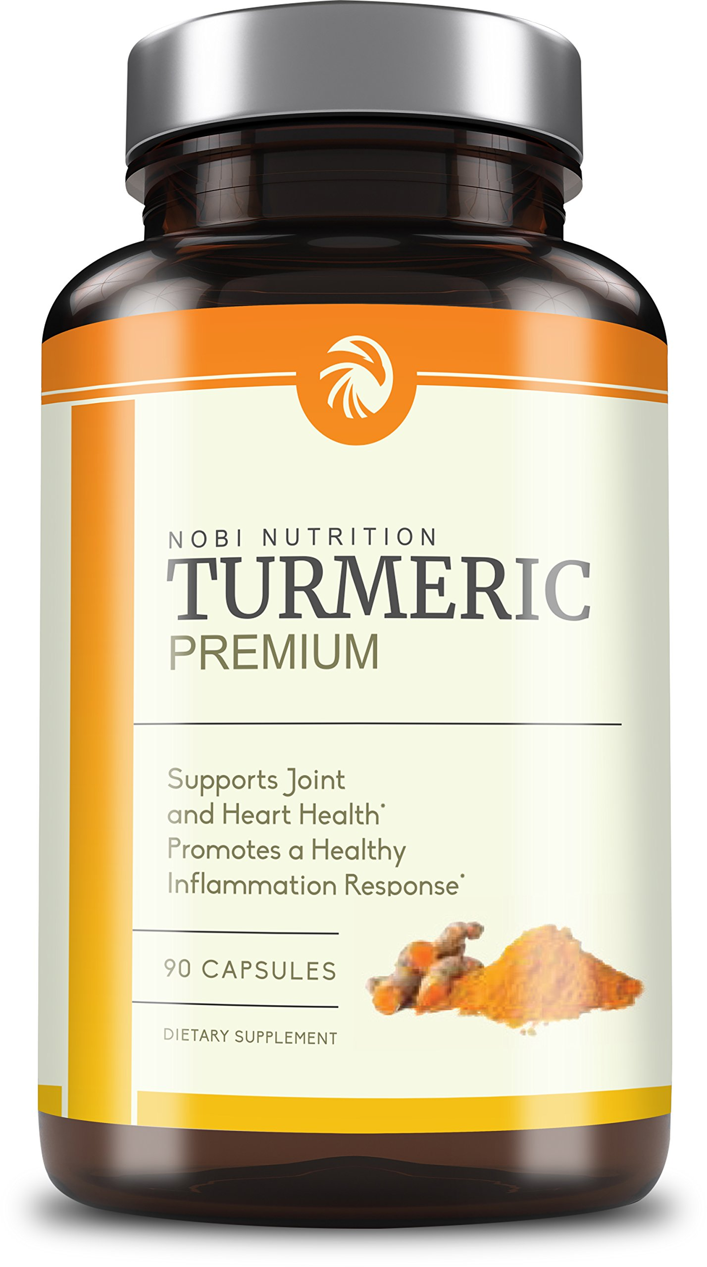 Turmeric Curcumin with Bioperine 1500mg - Extra Strength Pain Relief & Joint Support with 95% Curcuminoids - Premium Supplement, Non-GMO, Vegetarian Capsule with Black Pepper