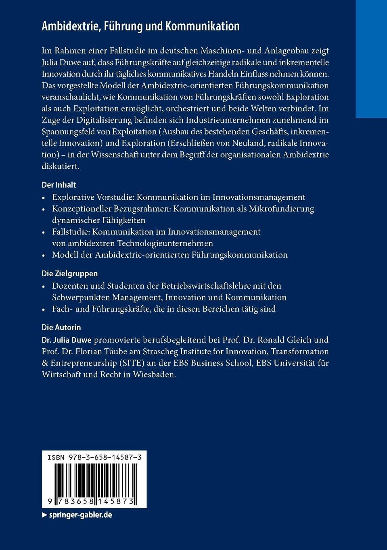 Ambidextrie, Führung und Kommunikation: Interne Kommunikation im ...