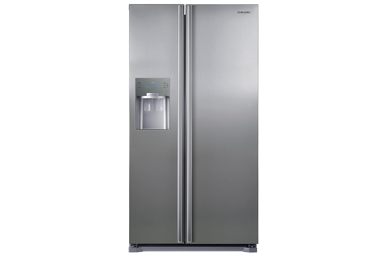 Kühlschrank Und Gefrierschrank Side By Side : Samsung sbs side by side kühlschrank a premium edelstahl