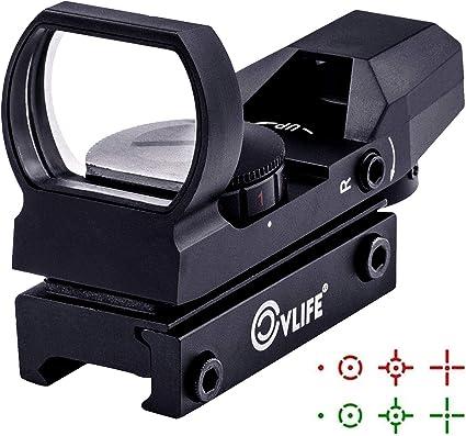 CVLIFE 1X22X33 Red Green Dot Gun Sight Scope Reflex Sight w// 20mm Rail Hunting